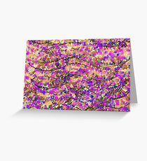Violet and Sepia Abstract Background Greeting Card