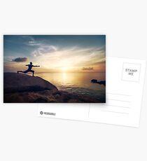 Warrior Yoga by the Ocean Postcards