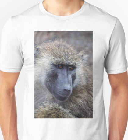 Olive Baboon Portrait T-Shirt