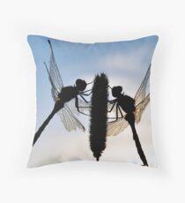 Mirrored Dragons Throw Pillow