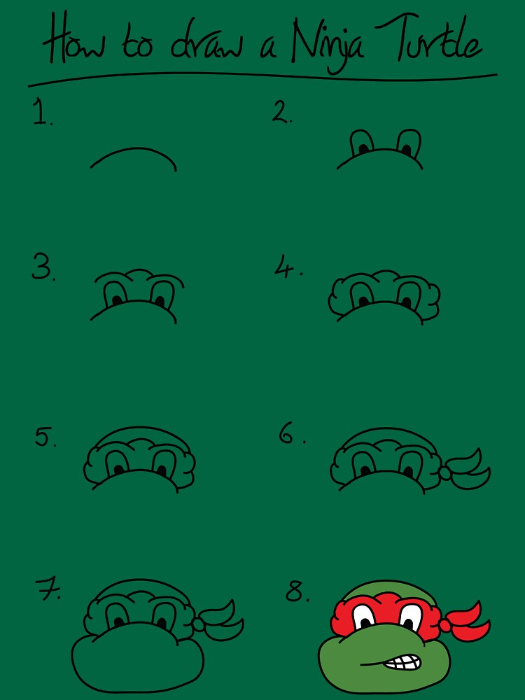 How to draw a ninja turtle by DancingCastle