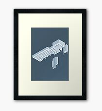 Isometric Council Chambers Framed Print