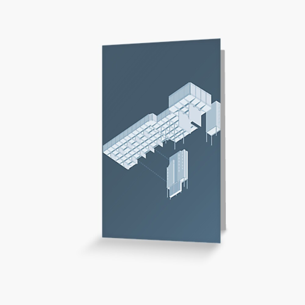 Isometric Council Chambers Greeting Card