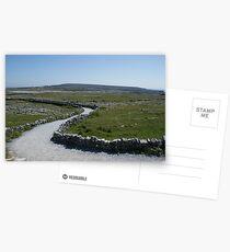 Path to Dún Aonghasa, Aran Islands, Co. Galway, Ireland Postcards