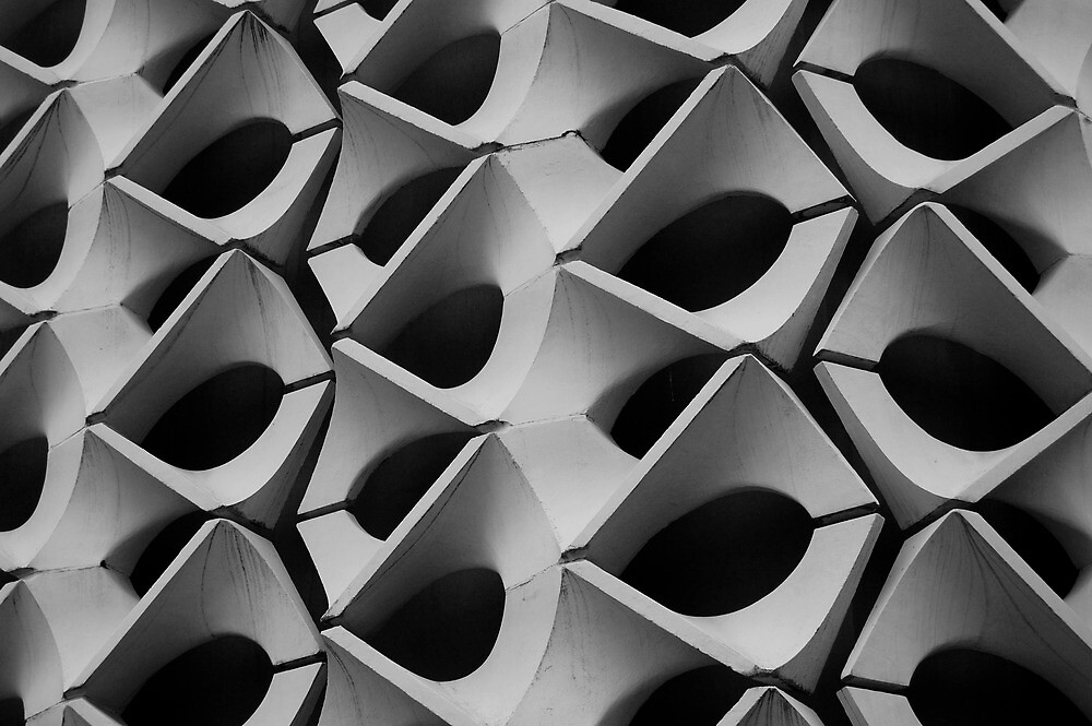 Concrete Facade - Chemnitz by Peter Cassidy