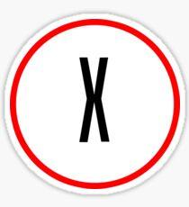 X Files X Sticker