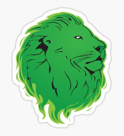 Green Lion Sticker