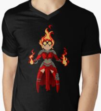 Princess Pyromancer Men's V-Neck T-Shirt