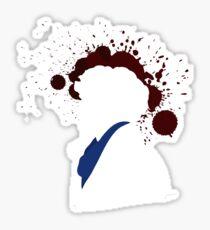 Fallen Sherlock (dark) Sticker