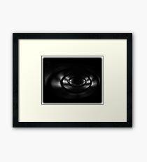 ©DA Black Paranoid Framed Print