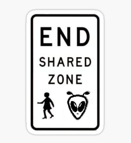 End Shared Zone Sticker