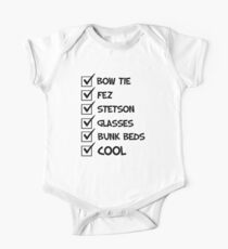 Cool Whovian Checklist - black text Kids Clothes
