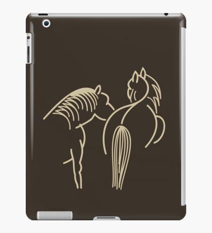 Two Horses (cream) VRS2 iPad Case/Skin