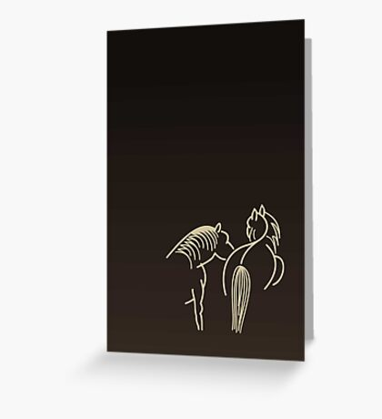 Two Horses (cream) VRS2 Greeting Card