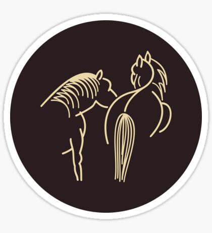 Two Horses (cream) VRS2 Sticker