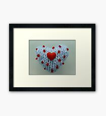Hand Knitted Heart Framed Print
