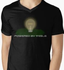 Powered by Tesla - Bulb Mens V-Neck T-Shirt