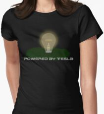 Powered by Tesla - Bulb Womens Fitted T-Shirt