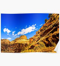 Golden Throne at Capitol Reef Poster