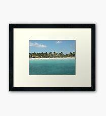 Cuban Beach Framed Print