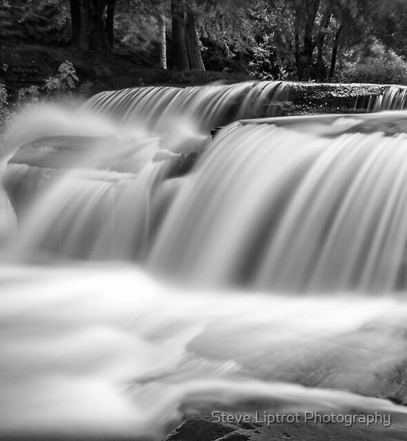 A Talybont waterfall by Stephen Liptrot