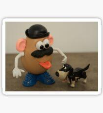 Mr Potato Head and his doggy  Sticker