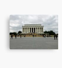 Visiting the Lincoln Memorial Canvas Print