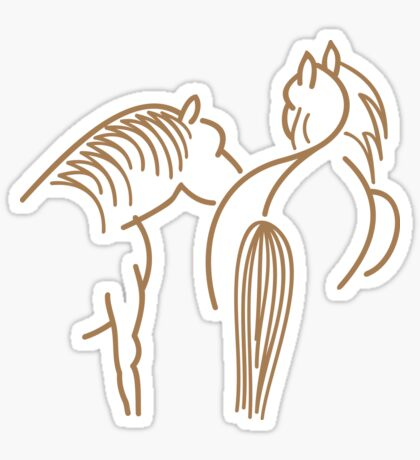 Two Horses VRS2 Sticker