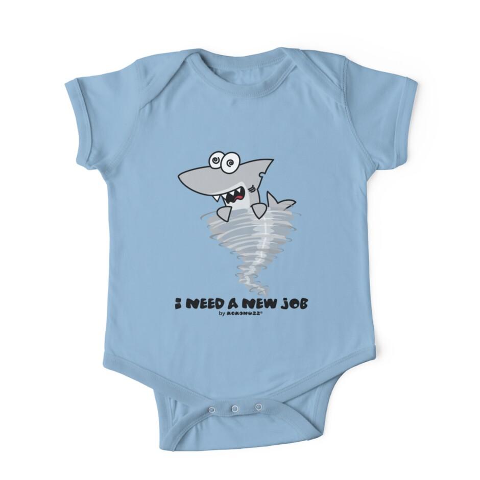 shark tornado i need a new job one piece short sleeve by shark tornado i need a new job