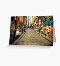 Beautiful Alley Melbourne Greeting Card