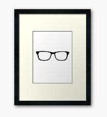 Nerdy Glasses Nerd Geek Framed Print