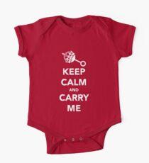 Body de manga corta para bebé Mantenga la calma y lléveme
