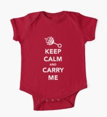 Keep Calm and Carry Me One Piece - Short Sleeve