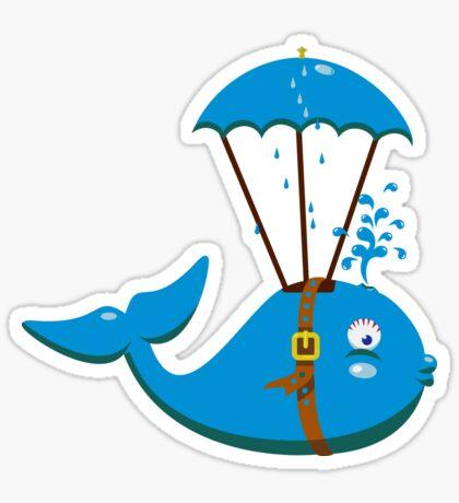 Sky Diving Whale VRS2 Sticker