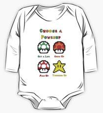 Mario Mushrooms 2 One Piece - Long Sleeve