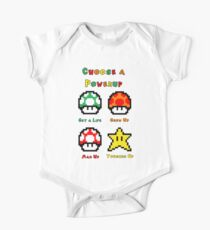 Mario Mushrooms 2 One Piece - Short Sleeve