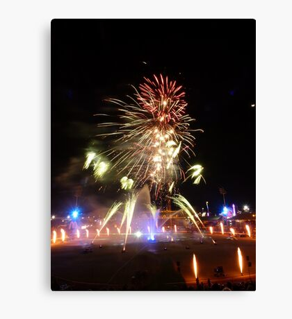 Brisbane fireworks Canvas Print