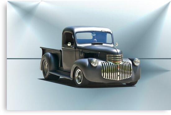 1942 Chevy Pick-Up 'Black Satin' by DaveKoontz