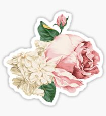 Rambling Rose with White Flowers Sticker