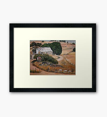 Farmyard view... Framed Print