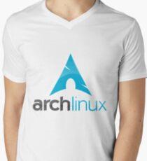 ArchLinux Men's V-Neck T-Shirt
