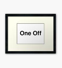 One Off Framed Print