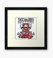 Rick And Morty Zombie Framed Print