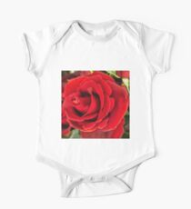 Beautiful rich red rose One Piece - Short Sleeve