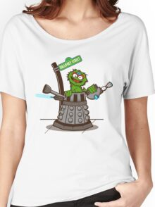 E is for EXTERMINAATE!! Women's Relaxed Fit T-Shirt