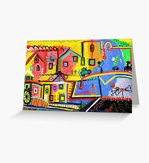 Beautiful scenery small town Greeting Card