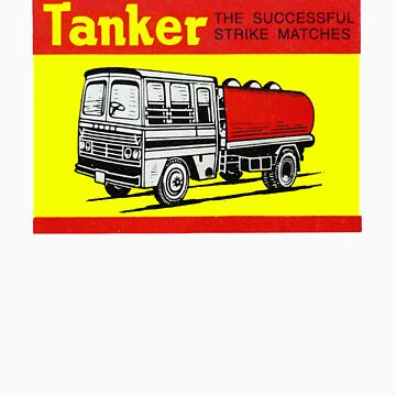 Tanker Indian Matchbox  by vintagegraphics