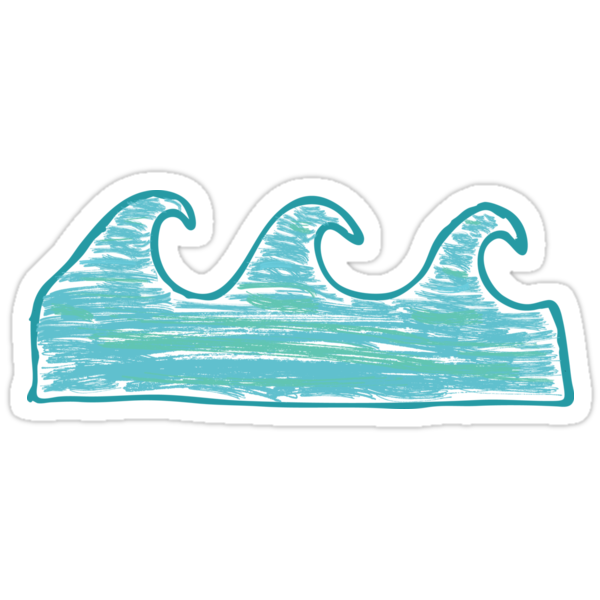 Quot Waves Quot Stickers By Ericbracewell Redbubble