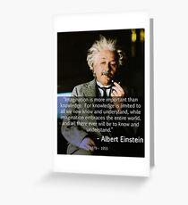 Albert Einstein Vorstellungskraft Grußkarte