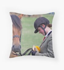 Mountain and Moorland class at Lamphey Show Throw Pillow